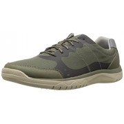 Clarks Men's Votta Edge Oxford, Olive Synthetic/Taupe, 8 M US