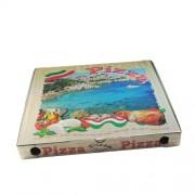 Krabica na pizzu z vlnitej lepenky 46 x 46 x 5 cm [100 ks]