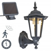 QAZQA Outdoor wall lantern anthracite incl. LED and solar - New York