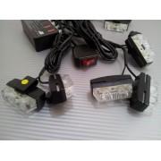 Lumini de zi LED ALB 8 mini proiectoare ManiaCars