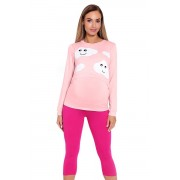 Melany szoptatós és kismama pizsama felhőkkel, rózsaszín XXL