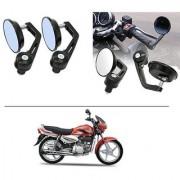 AutoStark 7/8 22cm Motorcycle Rear View Mirrors Handlebar Bar End Mirrors - Hero Super Splendor