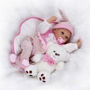 Icradle Girl Doll Reborn 22' Full Silicone Vinyl Body Children Play House Toys Gift