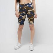 Urban Classics Ladies High Waist Camo Tech Cycle Shorts - Camo - Size: Extra Small; female