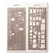 Elektronikai sablon, műanyag, KOH-I-NOOR 703071 (TKOH703071)