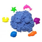 JM Future Space Sand/Moon/Crazy Magic Sand Mold-N-Play Educational Creative Fun Kids DIY Toy With 6 Mode, 2.2 lb., Blue