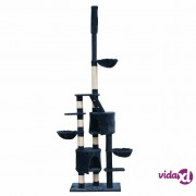 vidaXL Penjalica Grebalica za Mačke XL 230-260 cm Tamno Plava Pliš