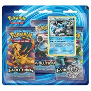 Pokemon TCG: XY EVolutions, Blister Pack Containing 3 Booster Packs And Featuring Holographic Black Kyurem With Collector's Coin