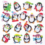 Baker Ross Penguin Foam Stickers (Pack of 120)