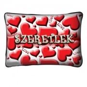 Díszpárna, szívek, szeretlek, Valentin nap
