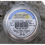 Artistic Wire 20 Ga - Silver pläterad,Non tarnish, 1 rulle