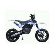 "Skate flash Mini motocross electrica skateflash dirt azul rueda 2.5x10"" bateria 12a motor 500w"