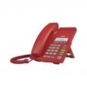 Teléfono IP ROJO soho 2 lineas SIP voz HD PoE Fanvil X3CR