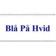 Dymo D1 tejp 12 mm - Blå på vit (45014)