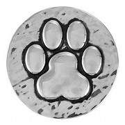 Ginger Snaps HAMMERED PAW PRINT SN20-01 Interchangeable Jewelry Snap Accessory