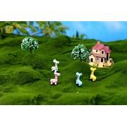 Magideal 3pcs Miniature Dollhouse Bonsai Fairy Garden Micro Landscape Giraffe Decor