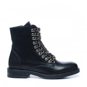 Sacha Zwarte biker boots met chains