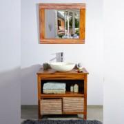 Saniteck Meuble salle de bain teck 85 new savanah