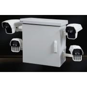 RACK, MIRSAN MR.MOB01.03, Шкаф за CCTV оборудване - 615 х 477 х 705 мм / 15U, двойни стени, 2 вентилатора, бял