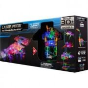 Laser Peg Race Car and Bot Bundle Set, Build 30 lighted Models