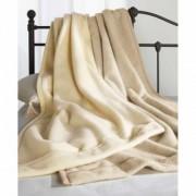 セミダブル 洗えてふんわり無染色ウール毛布 掛け毛布
