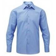 Men´s LS Easy Care Tailored Poplin Shirt Corporate Blue