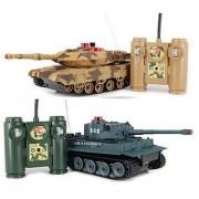 iPlay RC Battling Tanks -Set of 2 Full Size Infrared Radio Remote Control Battle Tanks - RC Tanks