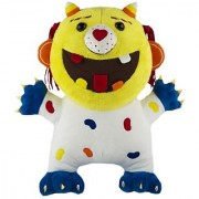 Goofy Grin Monsters Candy Monster Plush White and Blue