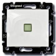 Переключатель одноклавишный с подсветкой Legrand Valena 10A белый