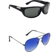 Irayz Sports Sunglasses(Black, Blue)