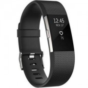 Смарт часовници Fitbit Charge 2 Black Silver, Large, FB407SBKL-EU