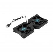 Puerto USB Mini Portátil De Pulpo Ventilador De Refrigeración Para Portátiles De 14 Pulgadas Negro