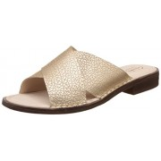 Clarks Women's Cabaret Script Leathe Metallic Leather Fashion Espadrille Flats - 4 UK/India (37 EU)