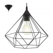 LED lámpa függeszték , mennyezeti , E27 , műanyag , fekete , EGLO , TARBES , 94188