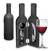 Accesorii de vin in forma de sticla (3piese)