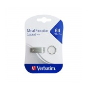 Memory stick USB 2.0 Verbartim Metal Executive 64 GB metalic, rezistent la apa, fara capac