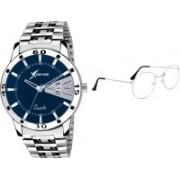 Rich Club Analog Watch, Round Sunglass Combo(Silver)