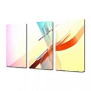 Tablou Canvas Premium Abstract Multicolor Luminos Rosu-Albastru Decoratiuni Moderne pentru Casa 3 x 70 x 100 cm