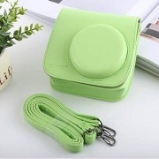 CAOMING Estilo Retro cámara de Cuerpo Completo PU Bolsa de Cuero con Correa for FUJIFILM instax Mini 9 / Mini 8+ / Mini 8 Durable (Color : Green)