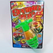 LIGHT UP Retro Spring Spin Top LED Plastic Spinning Light Show