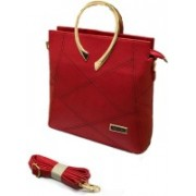 Jimmy Choo Stylish Casual or party hand held bag for women & Girls Waterproof Sling Bag(Red, 14 inch)