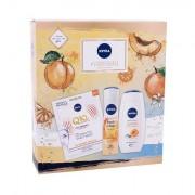 Nivea #Vitaminshake confezione regalo doccia gel Care & Apricot 250 ml + antitraspirante Fresh Orange 150 ml + maschera viso Q10 Plus C 1 ks donna