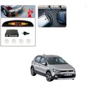 Auto Addict Car White Reverse Parking Sensor With LED Display For Volkswagen Polo Cross