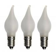 Universal Led Bulb Lampa ljusstake LED låga frost 3-pack E10