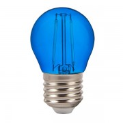 LAMPADINA LED E27 2W FILAMENTO BLU A BULBO VT-2132-LED7412
