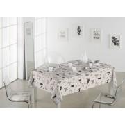 SABANALIA Mantel de tela antimanchas Cats