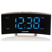 Ébresztőórás rádió , USB töltőcsatlakozóval, nagy LCD kijelzővel, fekete, CR7USB