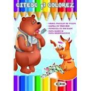 Citesc si colorez - Ursul pacalit de vulpe/***