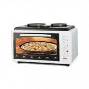 Готварска печка ASEL AF 0125, 40 л, 2 котлона, термостат, 1200W/1800W, бяла