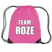 Shoppartners Team roze rugtas voor training fuchsia